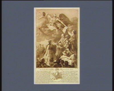 A la gloire de Louis XVI sous le regne de François 1.er beaucoup de Francois seduits par la doctrine de Calvin abandonnerent leur patrie pour suivre leur maître à Geneve... : [estampe]