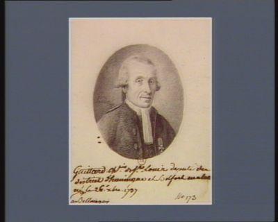 Guittard ch.ier de S.t Louis deputé du district d'Huningue et Belfort en alsa[ce] né a Bellemagny le 26 X.bre 1737 : [dessin]