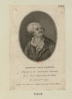 Georges Jacq. Danton deputé à la Convention nationale né à Arcis departem.t de l'Aube le 26 oct.bre 1759 : [estampe]