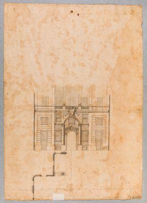 Palazzo della Consulta. Cortile, particolare architettonico dello sfondo
