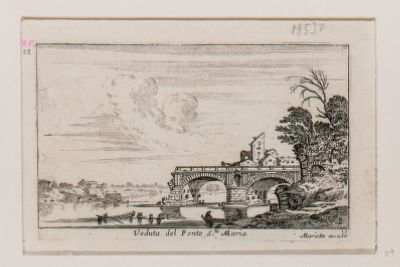 Veduta del Ponte S. Maria detto Ponte Rotto