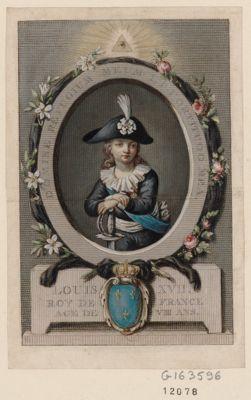 Louis XVII Roy de France agé de VIII ans Domine refugium meum et fortitudo mea : [estampe]