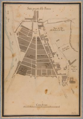 Piazza del Popolo con zone adiacenti