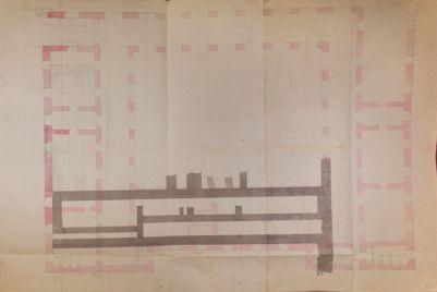 Palatino, pianta di parte del Monastero della Visitazione (Villa Mills)