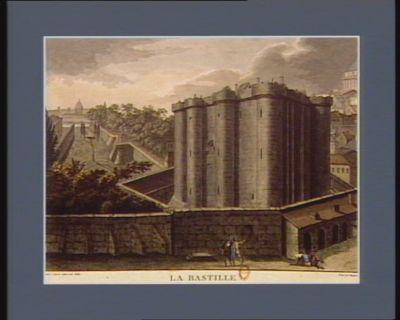 La  Bastille vue du coin du boulevard, 1789. Ces murs baignés sans cesse et de sang et de pleurs, ces tombeaux des vivans, ces bastilles affreuses, s'écrouleront un jour sous des mains généreuses... : [estampe]