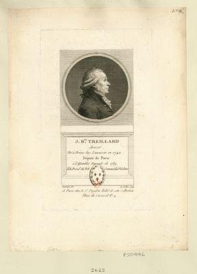 J. B.te Treilhard député de Paris à l'Assemblée nationale de 1789. Président de l'Assemblée nat.le en <em>1790</em> et depuis elü présid.t du trib. criminel du d.t de Paris : [estampe]
