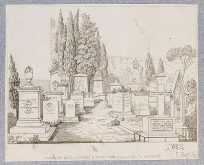 Cimitero degli acattolici, veduta generale