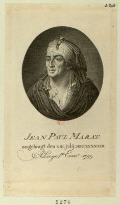 Jean Paul Marat omgebragt den XIII. julij MDCCLXXXXIII : [estampe]