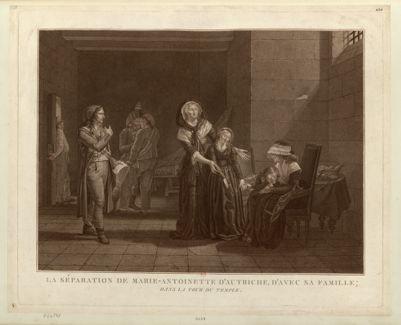 La  séparation de Marie-Antoinette d'Autriche, d'avec sa famille dans la tour du Temple : [estampe]