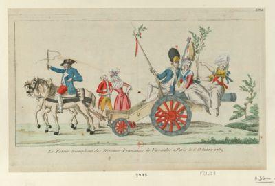 Le  Retour triomphant des heroines francaises a <em>Paris</em> le <em>6</em> octobre <em>1789</em> [estampe]