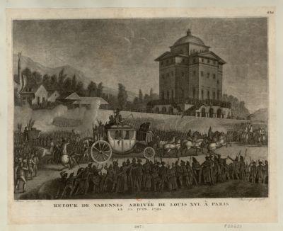Retour de Varennes arrivée de Louis XVI à Paris le 25 juin 1791 [estampe]