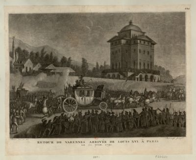 Retour de <em>Varennes</em> arrivée de Louis XVI à Paris le 25 juin <em>1791</em> [estampe]