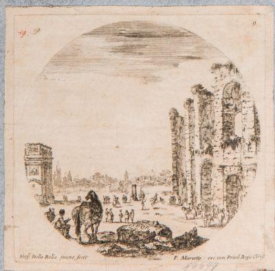 Arco di Costantino, visto di fianco dal Celio