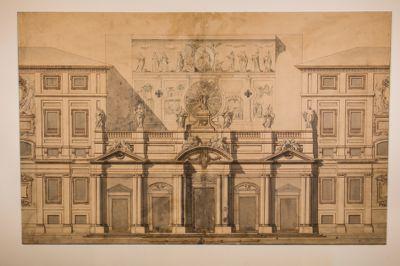 Secondo progetto per la facciata di Santa Maria Maggiore, prospetto