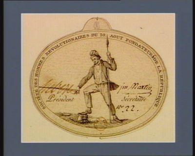Société des hommes révolutionnaires du 10 août, fondateur de la République [estampe]