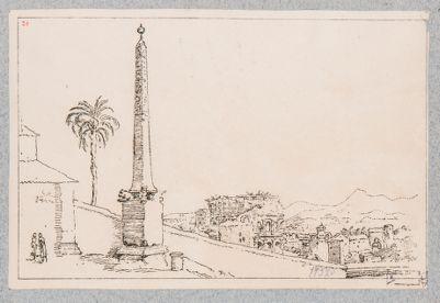 Campidoglio, obelisco capitolino ora a Villa Mattei
