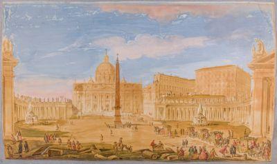 Piazza di S. Pietro in Vaticano, veduta