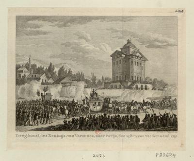 Terugkomst des Konings, van Varennes, naar Parijs [estampe]