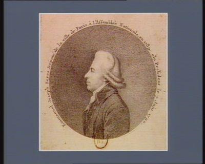 Emmanuel Joseph Seyes deputé de la ville de Paris à l'Assemblée nationale en 1789 élu président le 7 juin <em>1790</em> : [estampe]