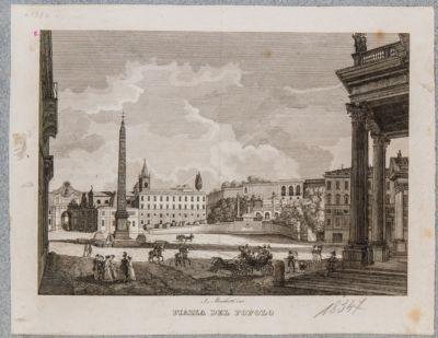 Piazza del Popolo, vista verso la porta