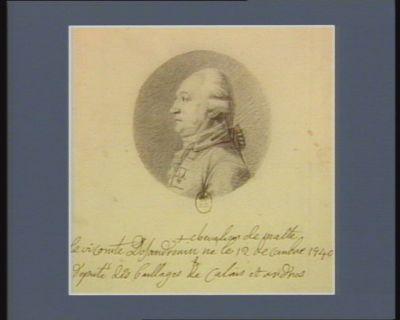 Le  Vicomte Desandrouin chevalier de Malte né le 12 décembre 1740 député des baillages de Calais et Ardres : [dessin]