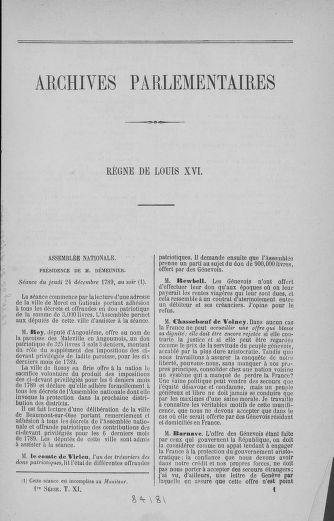 Tome 11 : Du 24 décembre 1789 au 1er mars 1790 - page 1