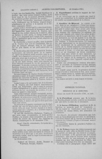 Tome 11 : Du 24 décembre 1789 au 1er mars 1790 - page 38