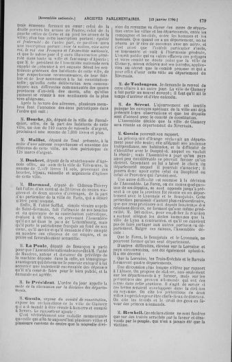 Tome 11 : Du 24 décembre 1789 au 1er mars 1790 - page 179