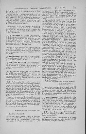 Tome 11 : Du 24 décembre 1789 au 1er mars 1790 - page 229