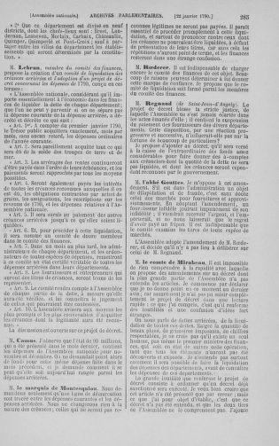 Tome 11 : Du 24 décembre 1789 au 1er mars 1790 - page 285