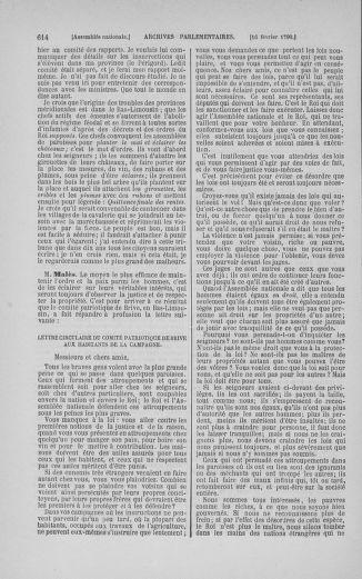 Tome 11 : Du 24 décembre 1789 au 1er mars 1790 - page 611