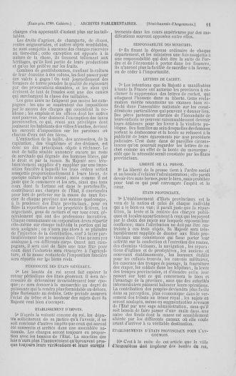 Tome 2 : 1789 – États généraux. Cahiers des sénéchaussées et baillages [Angoumois - Clermont-Ferrand] - page 11