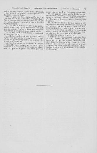 Tome 2 : 1789 – États généraux. Cahiers des sénéchaussées et baillages [Angoumois - Clermont-Ferrand] - page 53