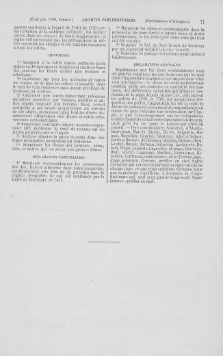 Tome 2 : 1789 – États généraux. Cahiers des sénéchaussées et baillages [Angoumois - Clermont-Ferrand] - page 77