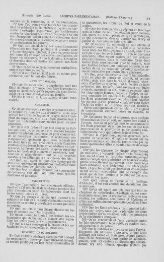 Tome 2 : 1789 – États généraux. Cahiers des sénéchaussées et baillages [Angoumois - Clermont-Ferrand] - page 111
