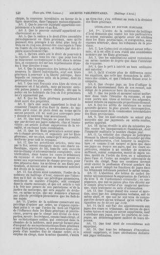 Tome 2 : 1789 – États généraux. Cahiers des sénéchaussées et baillages [Angoumois - Clermont-Ferrand] - page 140