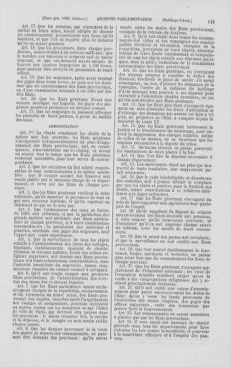 Tome 2 : 1789 – États généraux. Cahiers des sénéchaussées et baillages [Angoumois - Clermont-Ferrand] - page 141