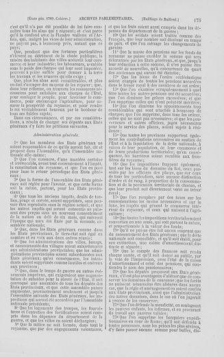Tome 2 : 1789 – États généraux. Cahiers des sénéchaussées et baillages [Angoumois - Clermont-Ferrand] - page 175