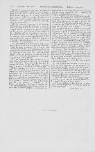 Tome 2 : 1789 – États généraux. Cahiers des sénéchaussées et baillages [Angoumois - Clermont-Ferrand] - page 246