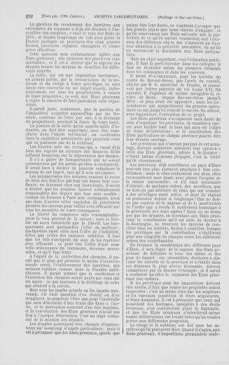 Tome 2 : 1789 – États généraux. Cahiers des sénéchaussées et baillages [Angoumois - Clermont-Ferrand] - page 252