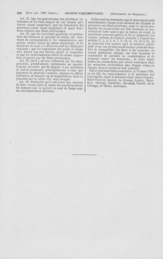 Tome 2 : 1789 – États généraux. Cahiers des sénéchaussées et baillages [Angoumois - Clermont-Ferrand] - page 286