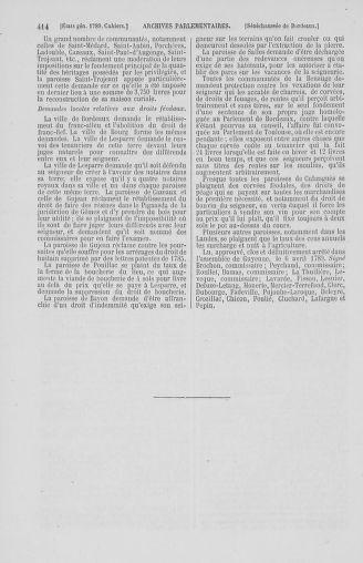 Tome 2 : 1789 – États généraux. Cahiers des sénéchaussées et baillages [Angoumois - Clermont-Ferrand] - page 414