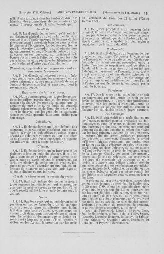 Tome 2 : 1789 – États généraux. Cahiers des sénéchaussées et baillages [Angoumois - Clermont-Ferrand] - page 441