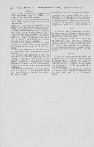 Tome 2 : 1789 – États généraux. Cahiers des sénéchaussées et baillages [Angoumois - Clermont-Ferrand] - page 452