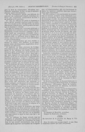 Tome 2 : 1789 – États généraux. Cahiers des sénéchaussées et baillages [Angoumois - Clermont-Ferrand] - page 485