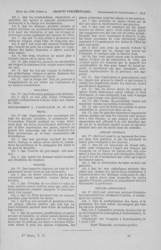 Tome 2 : 1789 – États généraux. Cahiers des sénéchaussées et baillages [Angoumois - Clermont-Ferrand] - page 561