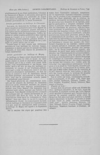 Tome 2 : 1789 – États généraux. Cahiers des sénéchaussées et baillages [Angoumois - Clermont-Ferrand] - page 743