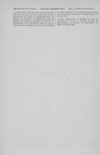 Tome 2 : 1789 – États généraux. Cahiers des sénéchaussées et baillages [Angoumois - Clermont-Ferrand] - page 758