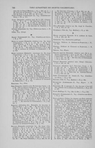 Tome 2 : 1789 – États généraux. Cahiers des sénéchaussées et baillages [Angoumois - Clermont-Ferrand] - page 786
