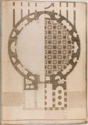 Scenografia dello stato antico del Panteon
